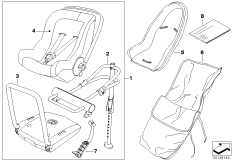 03_3064 BMW Baby Seat 0+ Isofix