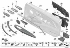 51_9239 Surface-mounted parts, door panel, front