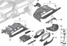 51_8379 Mounting parts, I-panel, bottom